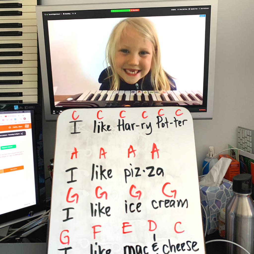 songwriting for kids in private lessons