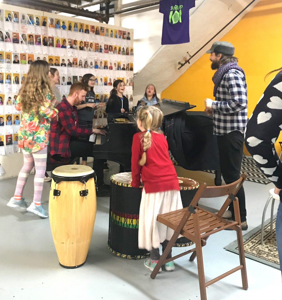 songwriting for kids community room